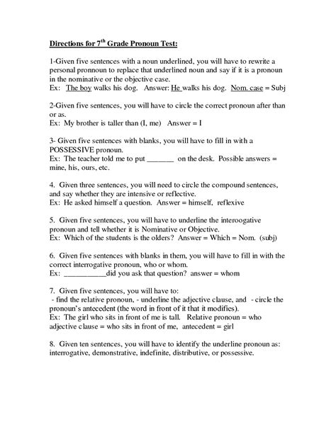 possessive pronouns worksheet for grade 4 sailing