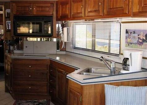 Eat In Kitchen Ideas - rv kitchens layout counter space dinette floorplan