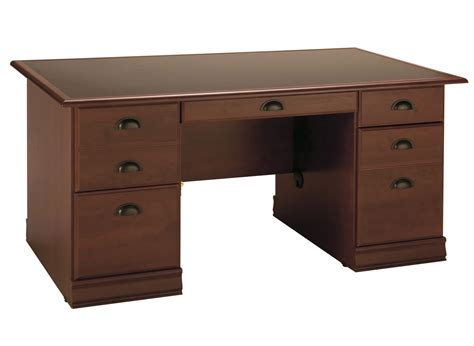 South Shore Vintage Classic Cherry Office Desk 7368718 At