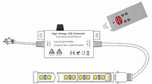 Ac110  220v Max 550w  Pwm Led Rgb Wireless Rf 6 Keys
