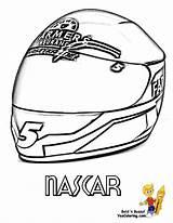 Coloring Nascar Helmet Yescoloring Sports Kahne Template Kasey Cars Sketch Boys Mega Credit Larger Racer sketch template