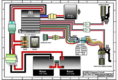 razor e100 electric scooter wiring diagram engine wiring