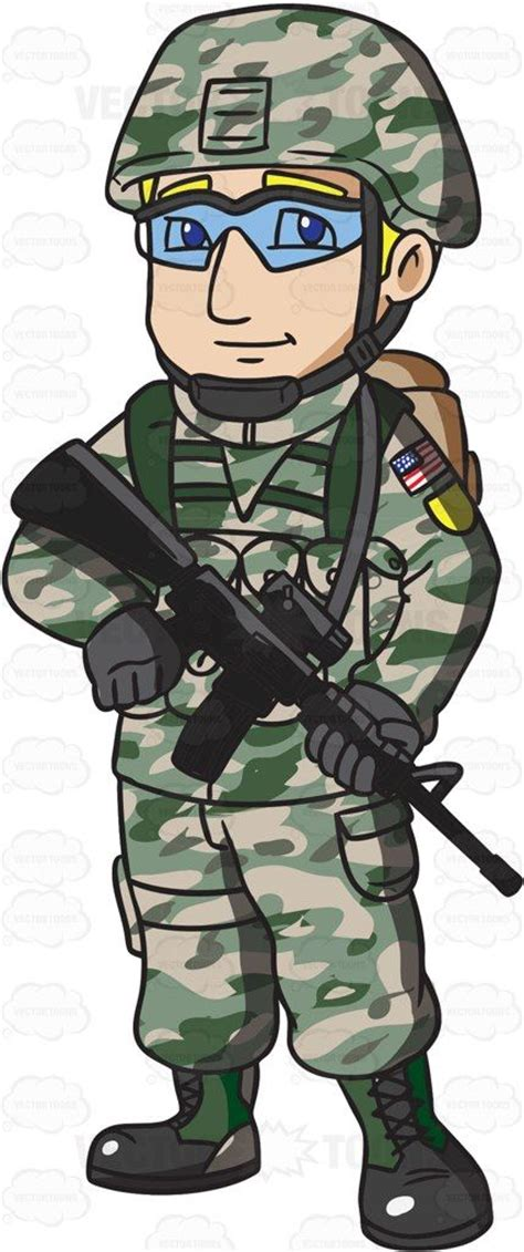 Soldier Clipart A Us Army Infantry Soldier In Clipart