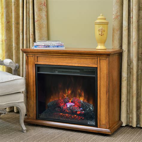 duraflame electric fireplace insert lowes carlisle 1000 sq ft infrared fireplace heater in oak
