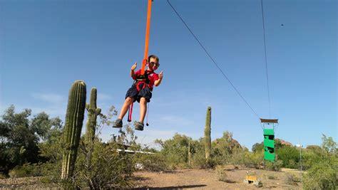 fly wire zipline ride phoenix zoo