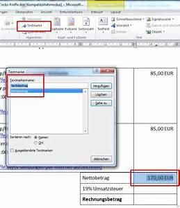 Mehrwertsteuer Berechnen Excel : word rechnungen in tabellen rechnen und in rechnungen nettobetrag umsatzsteuer und gesamtsumme ~ Themetempest.com Abrechnung