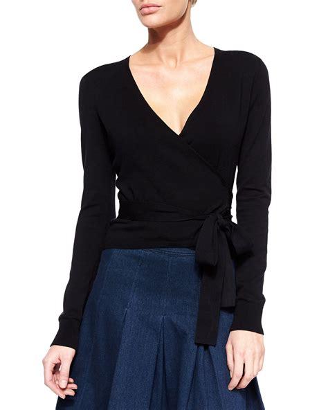 wrap sweater cardigan diane furstenberg ballerina sleeve wrap cardigan
