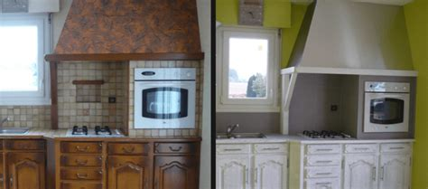 relooker sa cuisine avant apres comment repeindre une cuisine en chêne renovationmaison fr