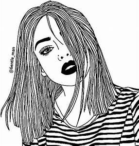 Fille Noir Et Blanc : 1000 ideas about dessin noir et blanc on pinterest ~ Melissatoandfro.com Idées de Décoration