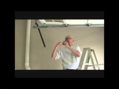replacing garage door extension spring safety cable youtube