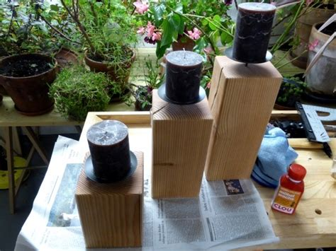 Kerzenhalter Holz Selber Bauen