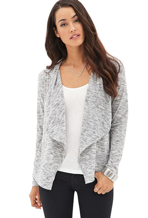 Draped Cardigans For - forever 21 contemporary drape front marled cardigan you ve