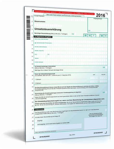 formulare steuererklaerung  ausdrucken oder