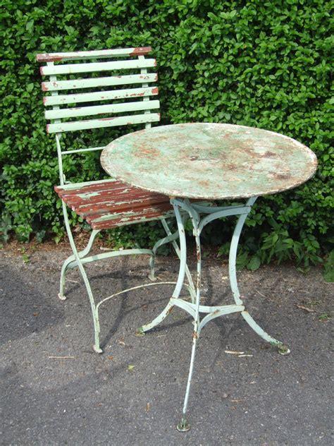 G201s  Vintage French Single Folding Garden Patio
