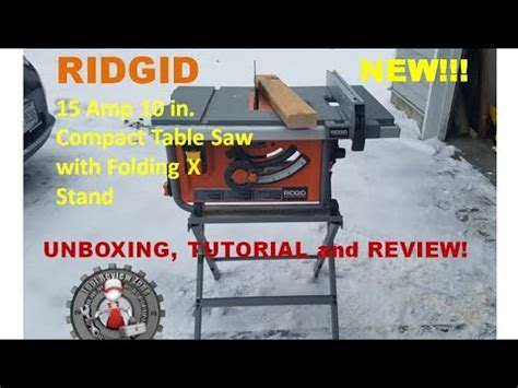 Ridgid 10 In Compact Table Saw With Folding Xstand