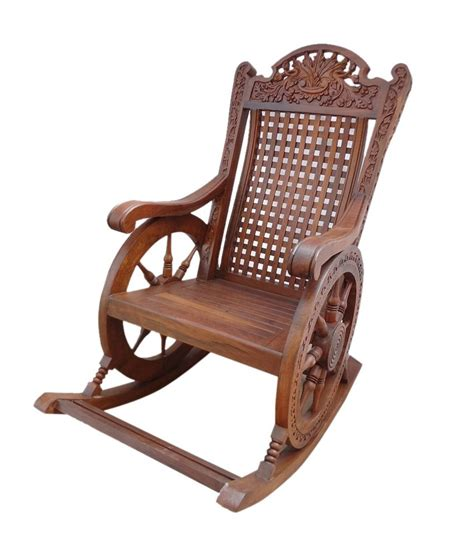 sheesham wood chariot rocking chair buy at best