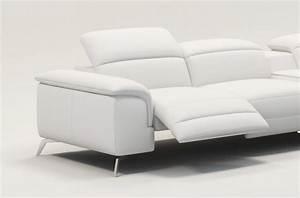 canape d39angle en cuir italien 5 places relaxia blanc With tapis enfant avec canapé 2 5 places relax