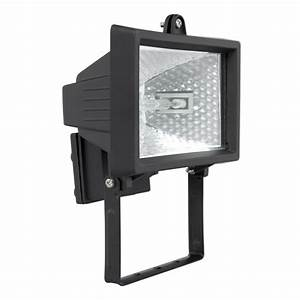 Brilliant w black ascot halogen flood light bunnings