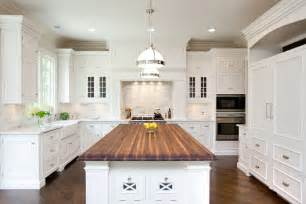 kitchen islands with butcher block top butcher block kitchen island traditional kitchen oakley home builders
