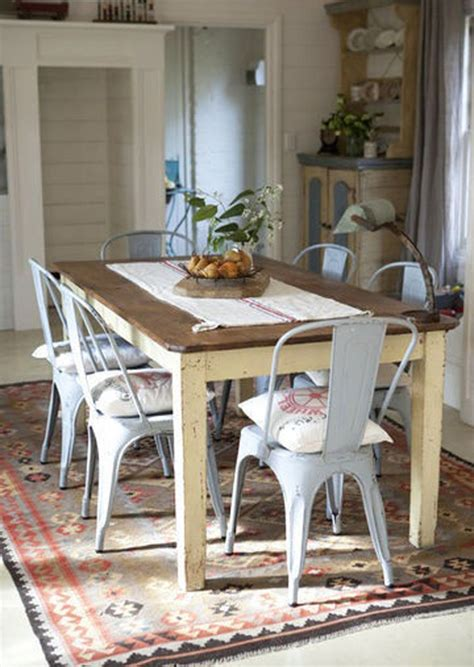 farm table with metal chairs this look refinish dining table top chalk paint for the