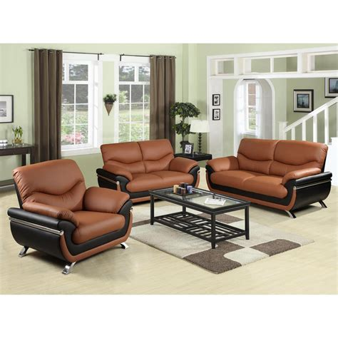 Sofa Set For Home by Two Tone And Black Leather Three Sofa Set Sh216
