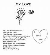 love poem coloring pag - Love Poem Coloring Pages For Adults