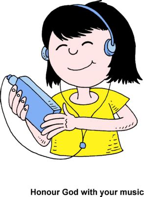 listening to ipod clipart image with ipod honour god with your