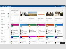 SharePoint home in Office 365 and team news updates across