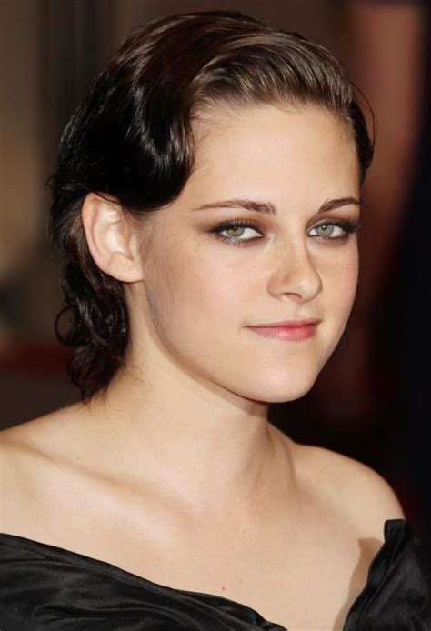 kristen stewart short sleek finger wave hairstyle