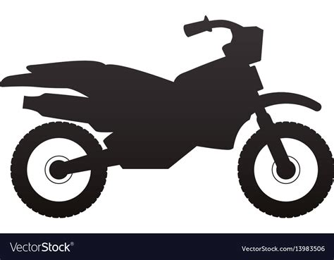 Enduro Motorcycle Silhouette Royalty Free Vector Image