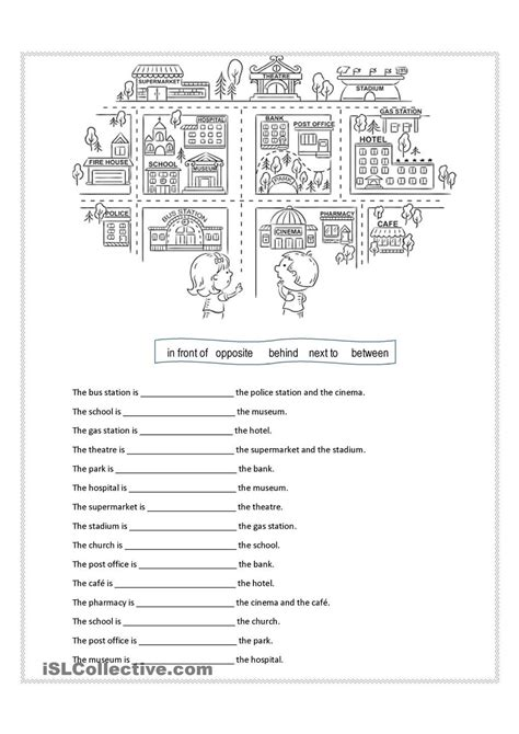 prepositions of place esl worksheets of the day