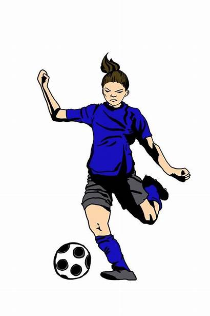 Soccer Player Players Female Clipart Sports Playing