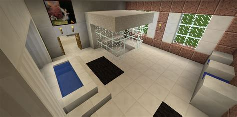 minecraft bathroom ideas minecraft bathroom glass shower garden tub sink