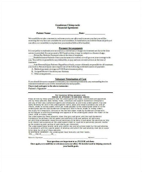 finance agreement templates word  docs