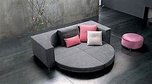 Convertible beds add unique style to a room for Round sleeper bed sofa