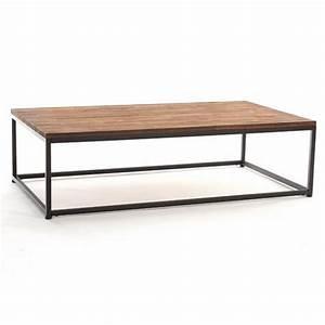 Table Basse Bois Metal : table basse de salon vintage bois d 39 acacia achat vente table basse table basse de salon ~ Teatrodelosmanantiales.com Idées de Décoration