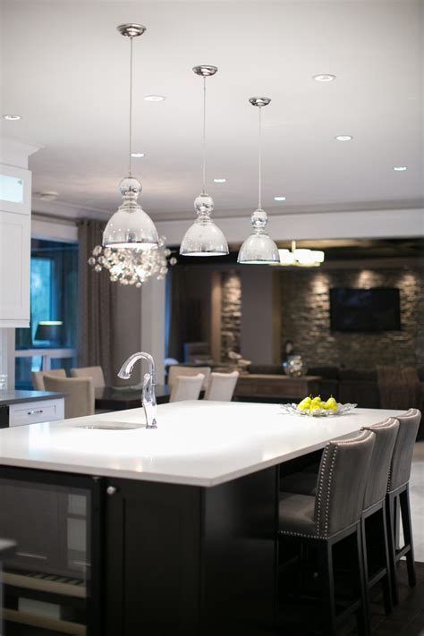 mercury glass pendant kitchen contemporary  cabinetry