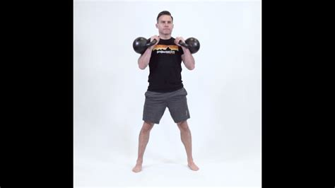 clean double kettlebell