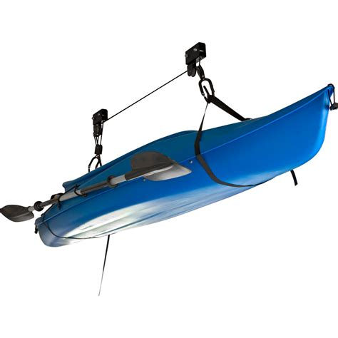 kayak hoist ceiling rack canoe kayak hoist overhead lift garage ceiling storage