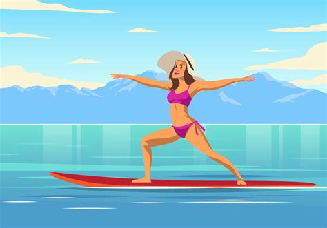 Free transparent yoga vectors and icons in svg format. Yoga Paddleboard Vector - Download Free Vectors, Clipart ...