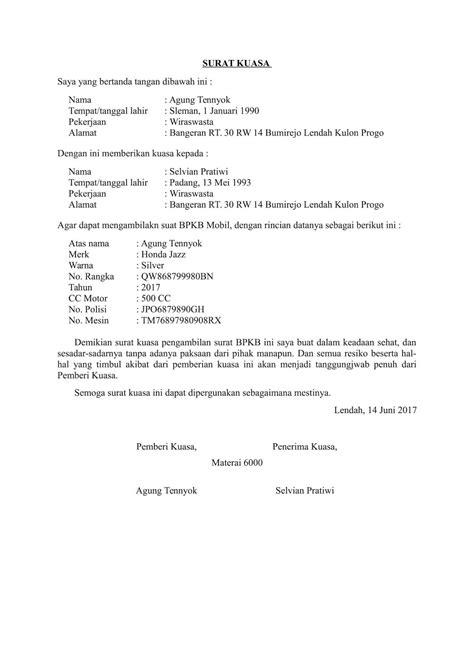 Atas perhatiannya kami ucapkan terima kasih. Contoh Surat Kuasa Kepemilikan Kendaraan Bermotor : Contoh Surat Kuasa Blokir Kendaraan Bermotor ...
