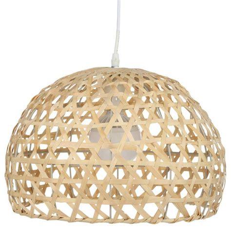 Lampe Suspension Bambou 30cm Naturel