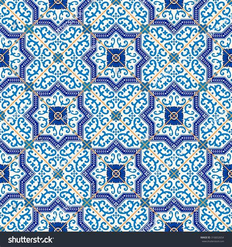 gorgeous seamless pattern from blue and white
