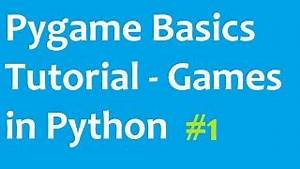 Pygame - Making Games with Python - YouTube