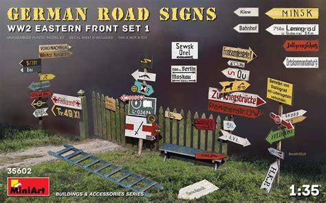 miniart  german road signs ww eastern front set