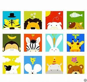 Tableau Deco Enfant : tableaux animaux funny animals ~ Teatrodelosmanantiales.com Idées de Décoration