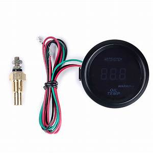 Hotsystem 2 U0026quot  52mm Digital Led Oil Temp Temperature Gauge