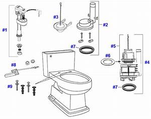 Toto Lloyd Toilet Replacement Parts