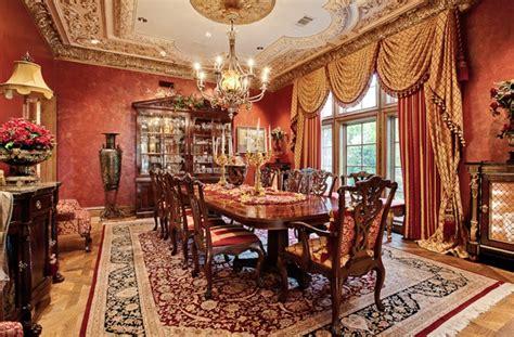 Elegant Red & Gold  Formal Dining Rooms Pinterest