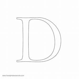 uppercase lowercase alphabet stencils With d stencil letter